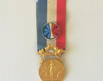 France, Gold Medal Of Honour For Acts Of Courage And Devotion