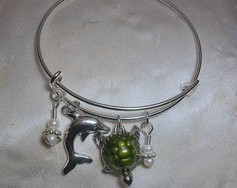 Florida Loggerhead Turtle Charm Bracelet