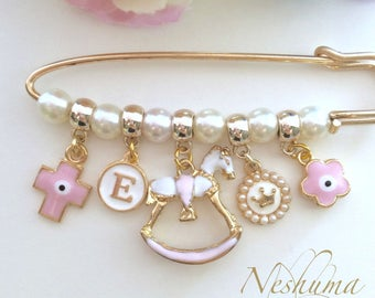 Baby Girl Gift Stroller Pin Baby Jewelry, Stroller Pin Brooch Newborn Baby Shower Gift