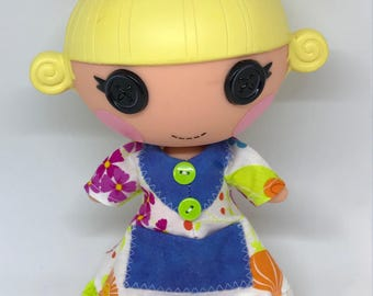 Multi Color Nightgown for Lalaloopsy Little Doll // Little Sister // Doll Clothes // Stocking Stuffer // Under 10 // For Girls // Yellow