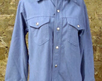vintage BIG YANK denim JACKET snap front shirt 41 chest jean