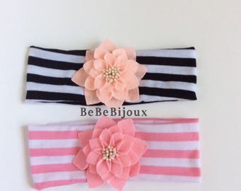 baby girl headband flower headband girl hair bow girl headband pink headband black headband