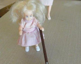 Dollhouse Miniature Bissel Carpet Sweeper cast metal