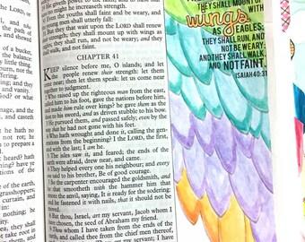 Bible Journaling Bible Verse Art Bible Verse Print great for faith journals Art Journal Wings, Eagles, Soar Faint Not Isaiah 40:31