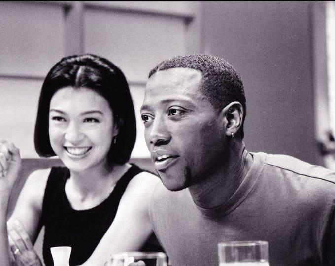 Vintage Photograph One Night Stand, 8x10, Black and White, Promotional, Photo, 1997, Wesley Snipes, Ming-Na, Not Autographed