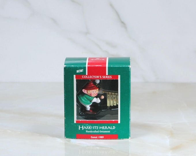 Vintage Hallmark Ornament, Hark! It's Herald, Christmas Ornamen