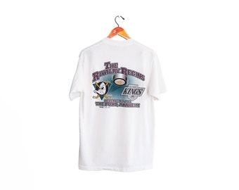 vintage t shirt / Mighty Ducks shirt / Los Angeles Kings / 1990s Beat LA Anaheim Mighty Ducks vs LA Kings Rivalry shirt Medium