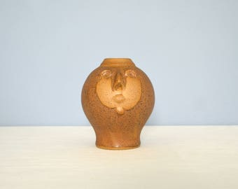 Rare Vintage David Stewart Lion's Valley Face Vase