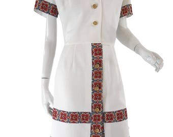 Vintage 60s/70s Short Sleeve Shirtwaist Dress  - lg, xl