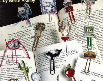 Clip Marks Cross Stitch Book Markers / Counted Cross Stitch Pattern Book American School of Needlework 3542