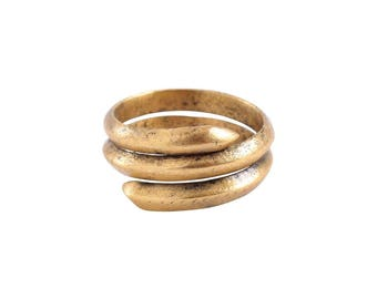 Authentic Ancient Viking Coil Ring Wedding Band Norse Jewelry, 850-1050 A.D. Size 11. 20.6mm inner diameter. (JNS352)