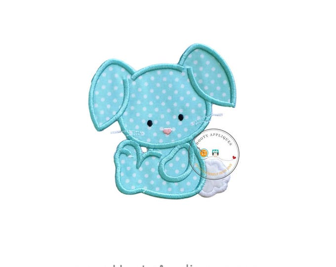 Cotton tail bunny iron on patch, teal bunny applique, Machine embroidered Easter bunny patch, Personalize Easter patch, Ready to ship