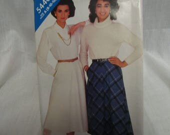 Butterick See & Sew 5440 Miss Size 8,10,12 Skirt Slightly Flared Bias Skirt