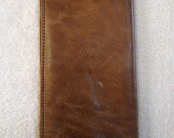 Personalized Handmade Genuine Leather Wallet with Snap Closure at Bottom **With or Without Name or Initials**