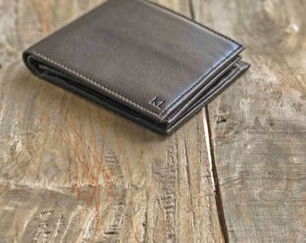 Personalized Wallet With Coin Pocket, Free Shipping, Brown Leather Wallet, Anniversary Gift For Men, Bohemian Wallet, Pocket Wallet