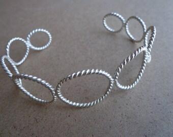 Cuff Bracelet sterling silver (.925)