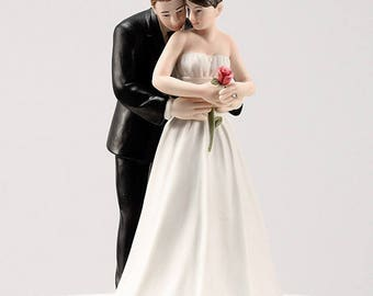 Bride and Groom Wedding Cake Topper, Yes to the Rose Wedding Cake Top, Wedding Cake Top, Wedding Cake Top Figurines, Bride Groom Cake Top