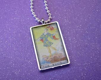 Tarot Card, Fool Card, Rearview Decoration, Purse Charm, Tarot Jewelry