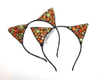 Fall Cat Ears // Thanksgiving Cat Ears // Cat Ears Headband // by Born Tutu Rock