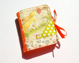 Guess How Much I Love You Scrappy Patchwork Needle book with Ribbon Tie Closure