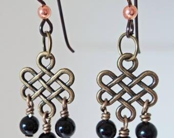 Onyx Dangle Earrings