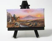 2x4 Legend of Zelda, Link, Navi, Epona, Mini Fridge or Easel Painting by J. Mandrick