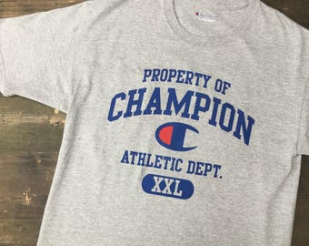 Property Of Champion Athletic Dept Tshirt