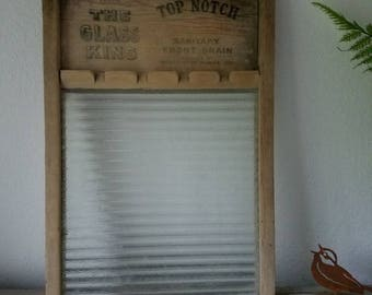 Vintage Glass Washboard  No 860 The Glass King Washboard Farmhouse  Decor