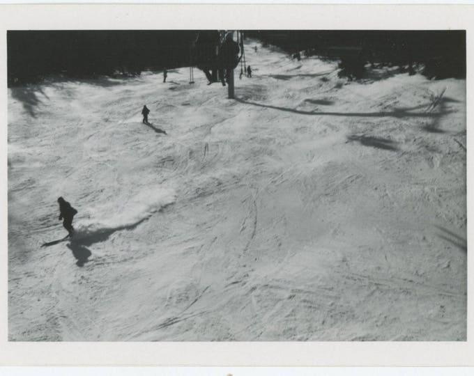Vintage Snapshot Photo: Ski-Slope (81635)