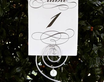 Table Number Holders, Wedding Table Number Holders, Place Card Holders, Wedding Table Decor, Wire Table Number Holders, Sets up to 30