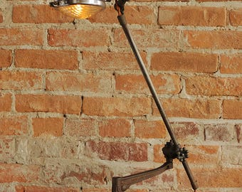 Sculptural Assemblage Industrial Lamp