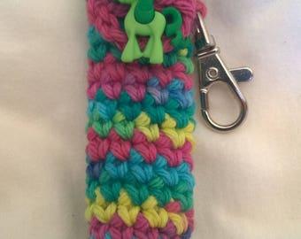 Rainbow Pony Lip Balm Holder - Unicorn Chapstick Case- Rainbow Keychain - Lip Balm Holder - Stocking Stuffer - Christmas Gifts for Her