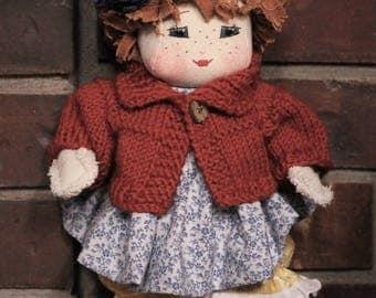 "Miss October 13"" Tiny Tatters Doll"