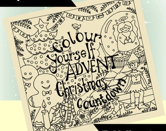 Advent Christmas Countdown - Colour Yourself - Calendar