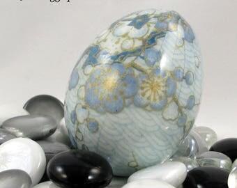 Japanese Washi Paper Easter Egg, Japanese Washi Egg, Washi Egg, Japanese Gift, Gift for Her, Washi Paper Egg, Japanese Egg, Light Blue
