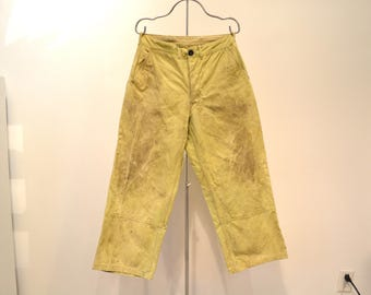 Vintage Filson Oil Cloth Work Pants. 1930's - 1940's Union Made in USA. Filson's Seattle. Size 32