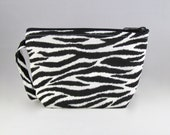 Zebra Print Makeup Bag - Accessory - Cosmetic Bag - Pouch - Toiletry Bag - Gift
