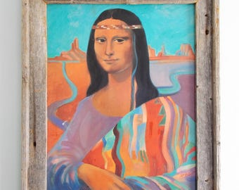 Framed Navajo Mona Lisa Of Tucson Arizona by Anre Van Dam