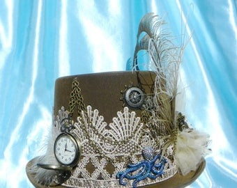 Steampunk Chocolte Brown Hat