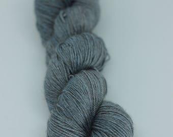 Yak/Merino/Silk Fingering - OOAK Indigo Dyed