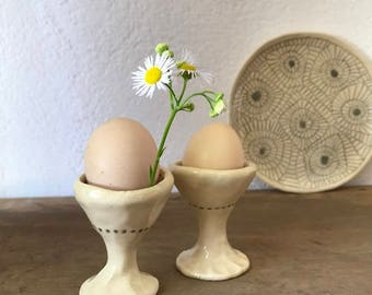 EGG CUP - decorative, handmade egg cup