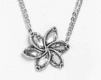 "Spoon Necklace: ""Lila Flower"" by Silver Spoon Jewelry"