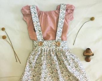 Emae suspender skirt and top set