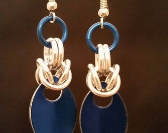 Scale & Byzantine Chainmaille Earrings