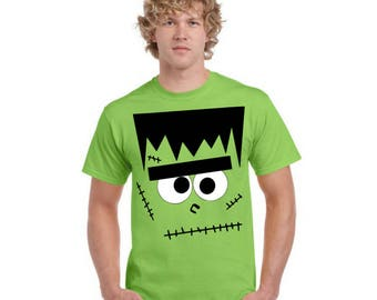 Munster Frankenstein Halloween Shirt  for Him - Dads Version of our Matching Father - Son Halloween T Shirts