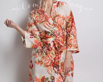 White ivory Bridesmaid robe, Kids Kimono, Bridesmaids Robes, Flower Girl Robe, Girls Wedding Dress, Girls Cardigan, Cotton Bathrobe, Snow