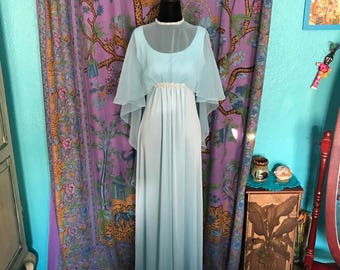 1960's Vintage Maxi Evening Gown