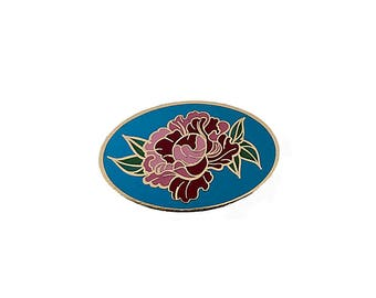 NEW! Pink Peony / Hard Enamel Lapel Pin or Hat Pin