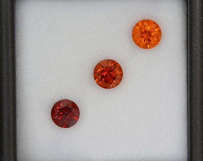 Stunning Spessartine Garnet Graded Orange Set of Gemstones 2.48 tcw.