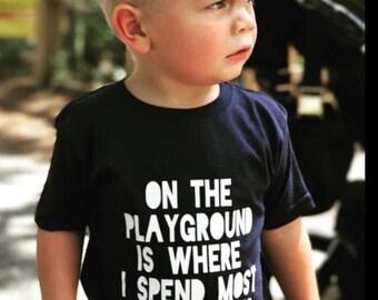 Playground Tshirt - Toddler Boy Clothes - Trendy Kids Clothes - Trendy Toddler Tshirt - Hipster Kids Clothes - Toddler Summer Shirt